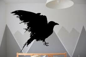 Wall Vinyl Sticker Decal Raven Vinyl Bird Runes Custom Vinyl Decal For Kids G043 Ebay
