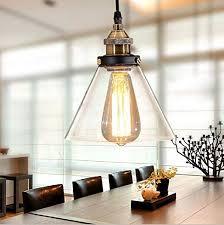 copper head glass lamp shade chandelier