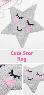 This Is Adorable Sass Belle Star Shape Rug With A Sleeping Face Grey Star Rug Rug For Children S Bedroom Or Nurs Star Rug Kids Rugs Inspiration For Kids