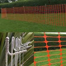 Orange Barrier Mesh Fencing Plastic Safety Site Temporary Fence