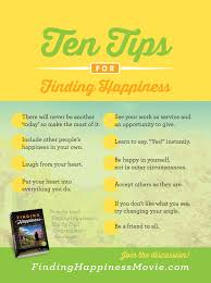 tips for finding happiness finding happiness movie