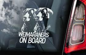 Weimaraners Car Sticker Weimaraner Vorstehhund Dog Window Sign Decal Gift V03 Ebay