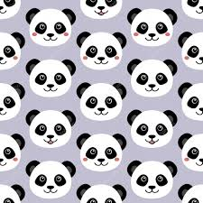 cute panda face seamless