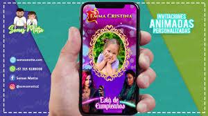 Tarjeta De Invitacion Cumpleanos Descendientes Somosmotta