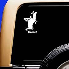 Ferret Angel Memorial Add Name Vinyl Car Window Pet Vinyl Etsy