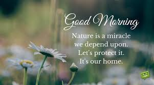 good morning quote about nature and the environment