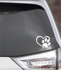 Kitty I Love My Cat Window Sticker Vinyl Decal Small Or Large Paw Print Heart Ebay