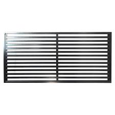 Protector Aluminium 900 X 1800mm Oriental Deco Screen Panel Satin Black Deco Paneling Oriental