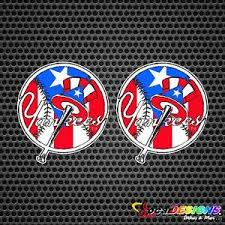 2x New York Yankees With Puerto Rico Background Flag Vinyl Car Stickers Decals Ebay