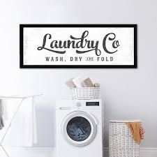 Laundry Co Sign Large Laundry Room Decor Prettyperfectstudio Com