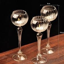 romantic decor glass candle holder