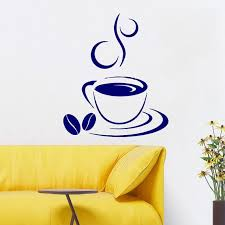 Shop Coffee Beans Wall Decals Coffee Cup Decal Cafe Drinks Kitchen Decor Interior Mural Design Sticker Decal Size 44x60 Color Black Overstock 14318887