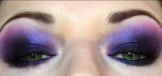 electric purple futuristic makeup look