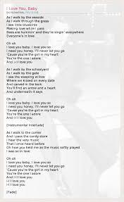 Текст песни i love you baby слова песни