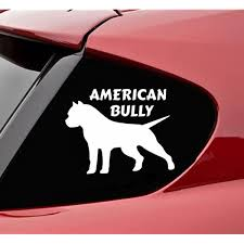 Amazon Com American Bully Pitbull Dog Silhouette Vinyl Decal Sticker Pit Bull K9 Rescue Love Automotive