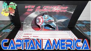 Como Hacer Una Invitacion Del Capitan America Youtube