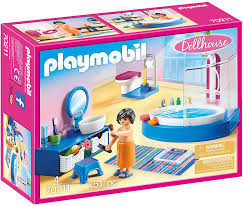 Amazon Com Playmobil Bathroom With Tub Furniture Pack Colourful One Size Toys Games