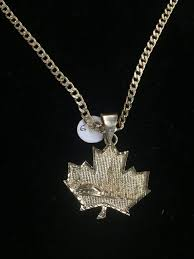 toronto skyline maple leaf pendant