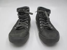 leather hi top sneaker mens sz 10 5