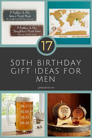 gifts for male 50th birthday
