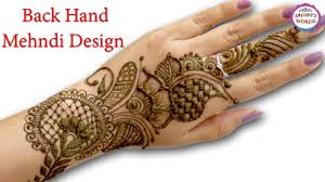 mehndi design back hand mehndi design