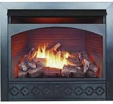 dual fuel vent free firebox and log
