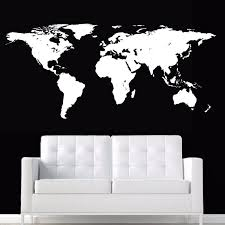 World Map Wall Stickers Large New Design Coffee Shop Pattern Wall Decal Vinyl Poster Sticker World Map Decals Wall Stickers Aliexpress