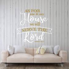 Amazon Com Bible Verse Wall Decor As For Me And My House Joshua 24 15 Religious Vinyl Decals Scripture Wall Art Christian Home Or Church Decoration Handmade