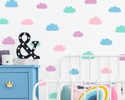 Cloud Wall Decals Vinyl Wall Decals 4 Color Cloud Decals Nursery Wall Decals Wall Stickers Kids Bedroom Decals Kids Room Wall Decor