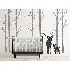 Popeve Giant Tree Vinyl Wall Decals Animal Deer Elk Birds The Love Forest Stickers Baby Nursery Home Bedroom Decor Art Murals 51 X96 Walmart Com Walmart Com