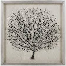 metal tree branch sculpture wall decor