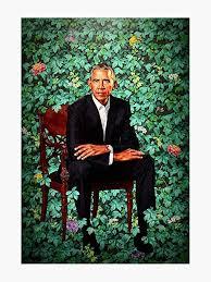 Amazon Com Unframed President Barack Obama Smithsonian S National Portrait Gallery Vinyl Decal Bumper Sticker Wall Laptop Window Sticker 5 Kitchen Dining