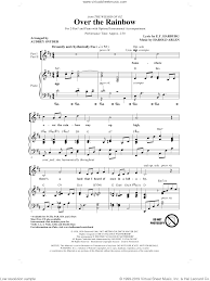 Arlen - Over The Rainbow sheet music for choir (2-Part) [PDF]
