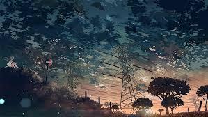 hd wallpaper black tree anime