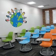 Children Around Globe Wall Decal School Wall Decals