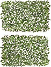 Amazon Com Verseo Faux Ivy Greenery Yard Decoration Ivy Hedge Privacy Screen Expandable 2 Pieces Garden Outdoor
