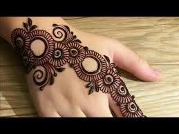 Stylish Mehndi Back Side Back Hand Simple Arabic Mehndi Design