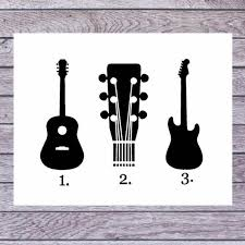 Guitar Decal Guitar Sticker Gift For Him Guitar Cup Etsy