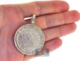 round medallion pendant 10k yellow gold