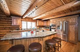 log cabin kitchens cabinets design