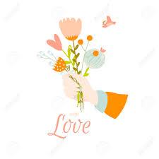 Tarjeta Romantica Y El Amor De Verano Plantilla Para La Boda Dia