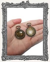 ornate brass pocket watch pendant 1 piece