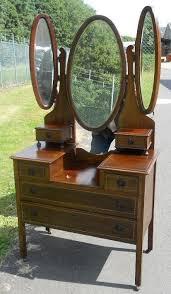 edwardian inlaid mahogany triple mirror