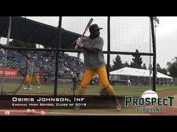Osiris Johnson Prospect Video, Inf, Encinal High School Class of 2018 -  YouTube