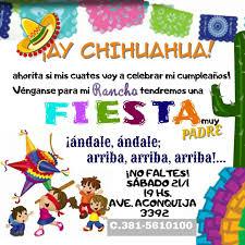 Tarjeta De Invitacion Fiesta Mexicana Invitaciones De Fiesta
