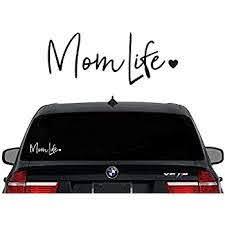 Amazon Com Decaltor Mom Life Decal Vinyl Sticker Cars Trucks Vans Walls Laptop White 7 5 In Automotive