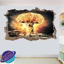 Atomic Bomb Nuclear Apoclypse Wall Sticker 3d Art Poster Mural Decal Decor Xv8 Ebay