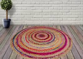 jute cotton rug carpet chindi braid