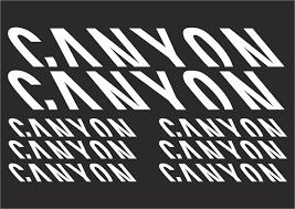 Canyon Vinyl Decal Stickers Frame Replacement Adhesive Set Aufkleber 8 Pcs Ebay