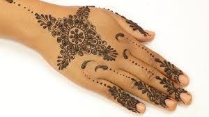 mehndi design simple for kids back hand
